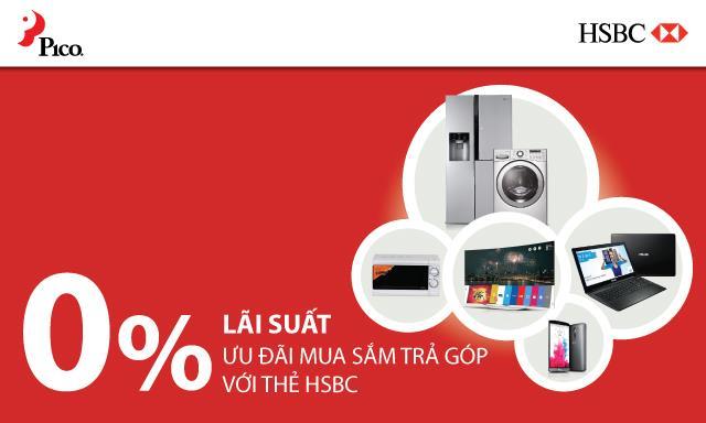 Gia hạn chương trình mua trả góp lãi suất 0% với thẻ tín dụng HSBC