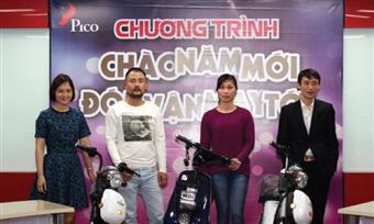 Pico trao thưởng chương trình Chào năm mới - Đón vận may tới