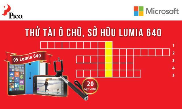 Thử tài ô chữ - Sở hữu Lumia 640