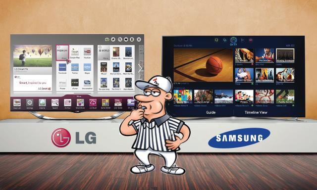 Hai hãng điện tử Hàn Quốc đối đầu trên thị trường TV đầu năm 2015