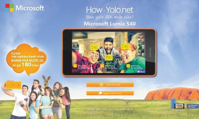Thể lệ chương trình Yolo Hour Lumia 540
