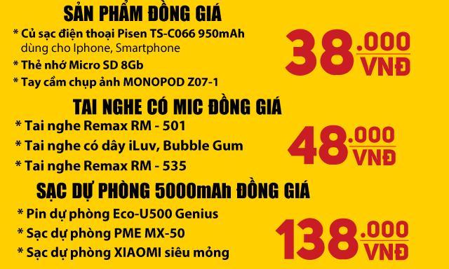 Phụ kiện điện thoại giảm giá sâu, chỉ từ 38k