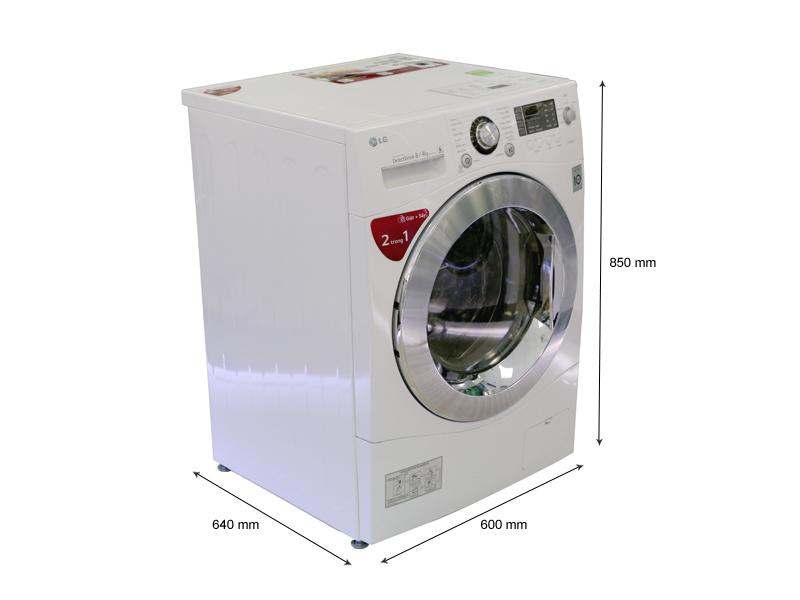 Kích thước - Máy giặt LG WD20600 8 kg giặt  4 kg sấy