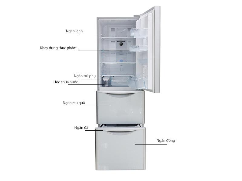Tủ lạnh Hitachi SG31BPGGS  - 305 lít ,3 cửa mầu bạc