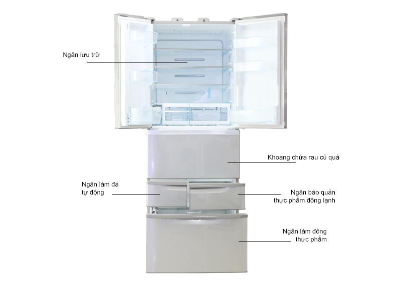 Tủ lạnh Toshiba GRD50FV - 479lit  - 6 cửa