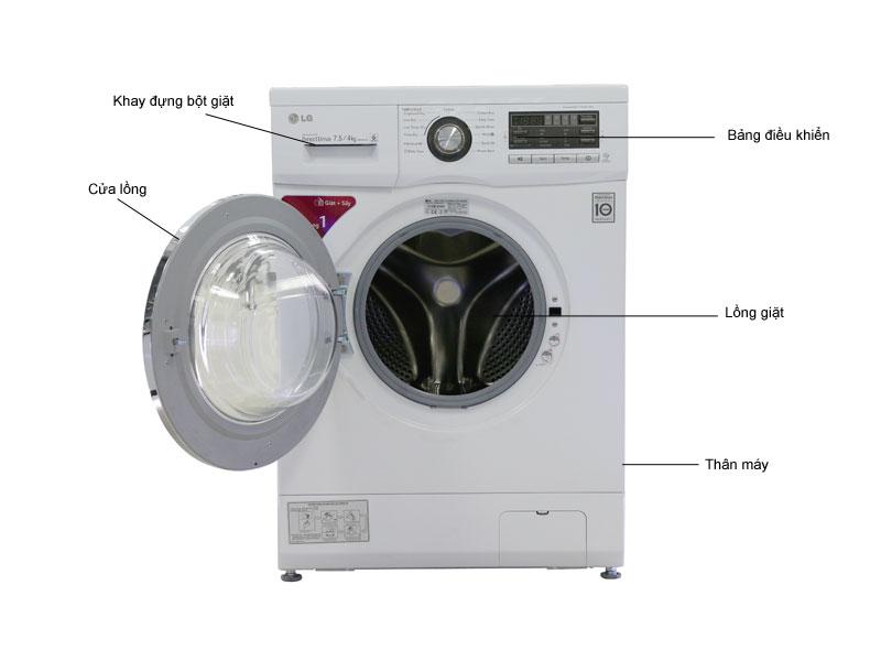 Mô tả chức năng - Máy giặt LG WD18600 - 7,5Kg giặt  4kg sấy - D.D