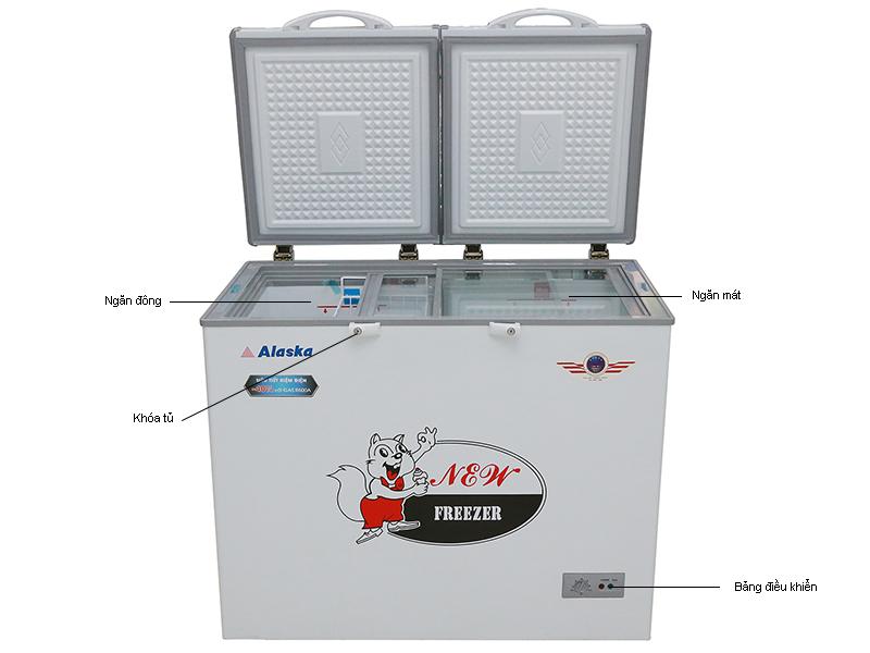 Tủ đông ALASKA BCD3568N -350L- 2 chế độ