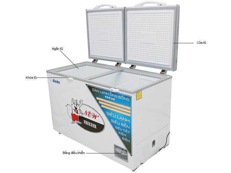 Tủ đông ALASKA HB550C - 550L,1 chế độ, dàn đồng
