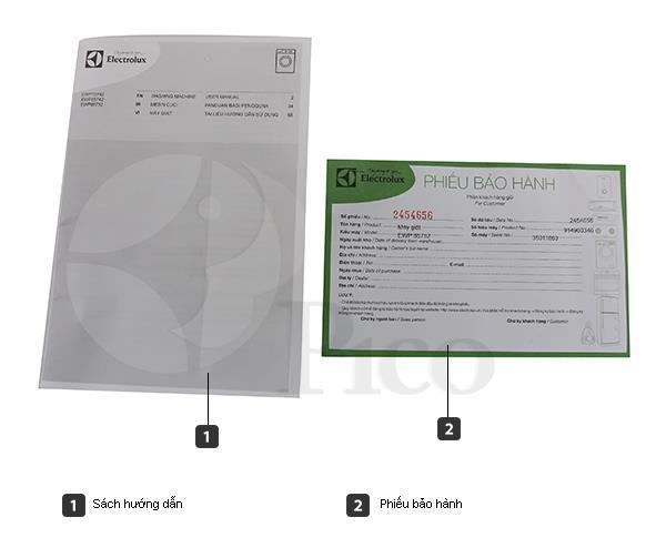 Bộ bán hàng chuẩn - Máy giặt ELECTROLUX EWF10842 - 8.0kg Lồng ngang