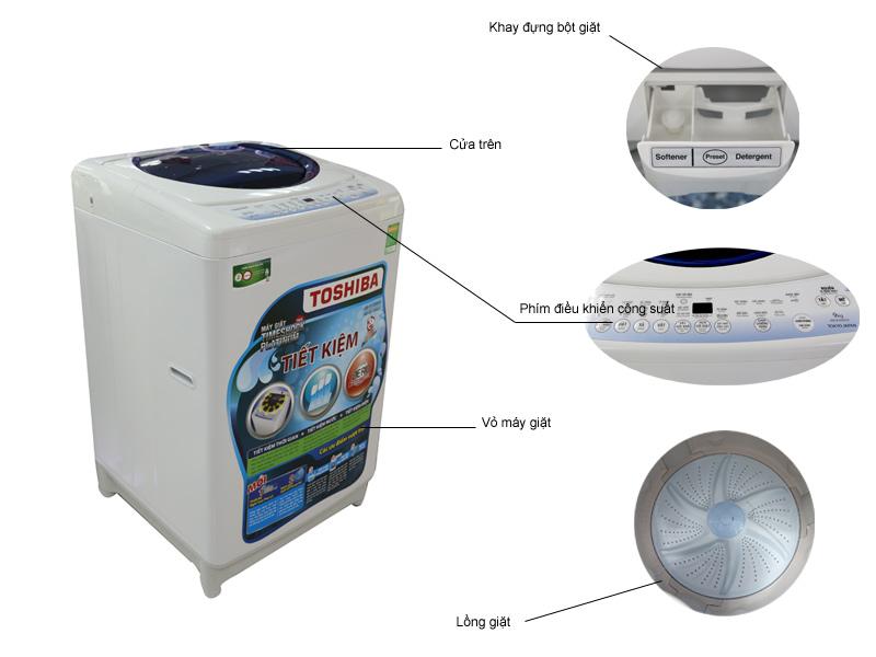 Máy giặt toshiba B1000GV 9kg màu hồng