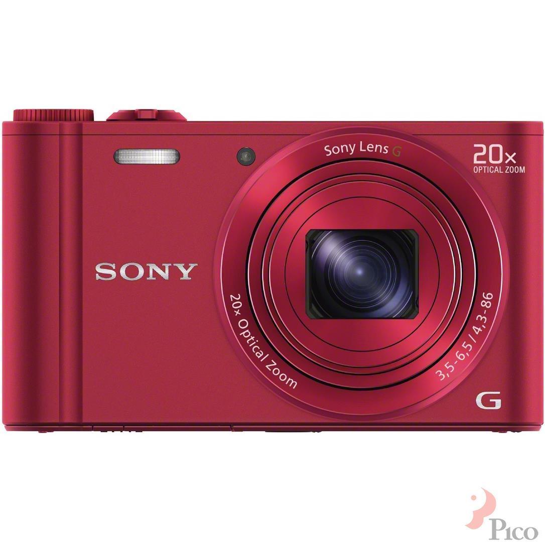 Máy ảnh Sony DSCWX300 18.2MP màu đỏ