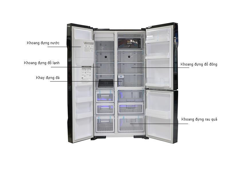 Tủ lạnh SBS Hitachi RM700GPGV2GBK - 584 lít - 3 cửa