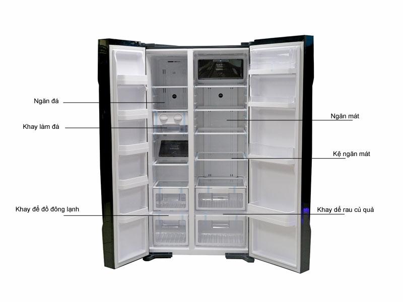 Tủ lạnh SBS Hitachi RS700PGV2GBK  - 605 lít - 2 cửa