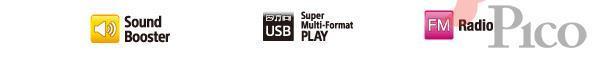 Sound Booster, Super Multi-Format PLAY, FM Radio