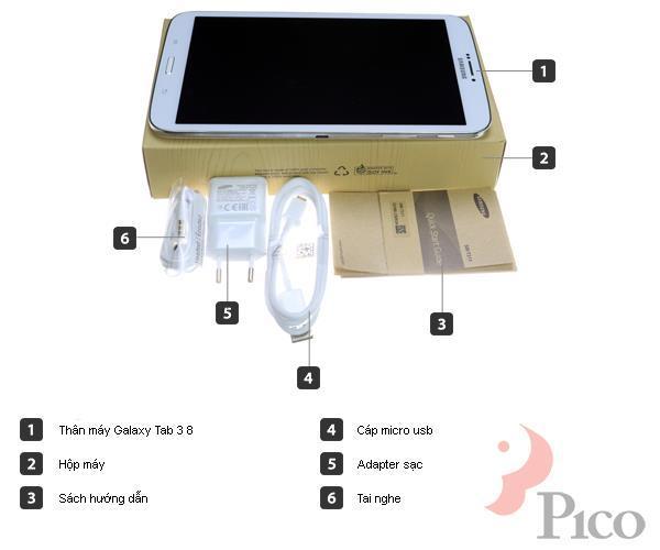 Bộ bán hàng chuẩn - Máy tính bảng Samsung Galaxy Tab3 8 inches - T311