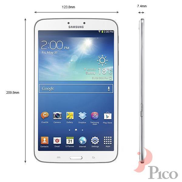 Kích thước - Máy tính bảng Samsung Galaxy Tab3 8 inches - T311