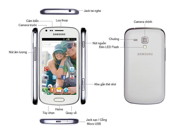 Điện thoại di động Samsung Galaxy Trend - S7560 Trắng
