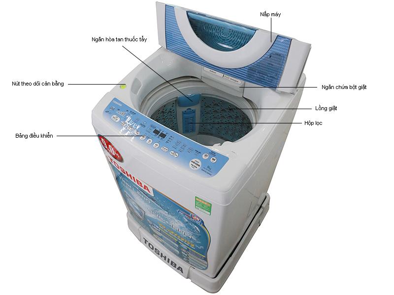 Máy giặt Toshiba DC1005CVWB - 9.0kg- DD màu xanh