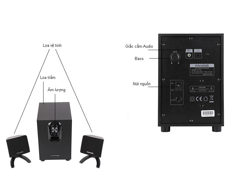 Loa Microlab M108 2.1