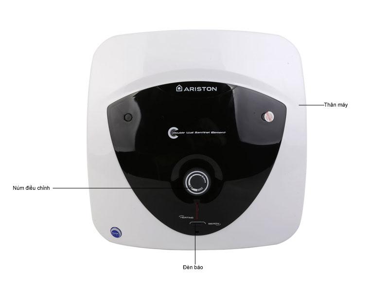 Bình tắm gián tiếp ARISTON AN30LUX, Chống giật, Thanh đốt tráng Titan, Công nghệ Ion bạc, 2500W, 30L
