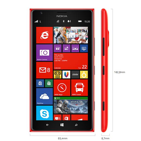 Kích thước - Điện thoại di động Nokia Lumia 1520 trắng