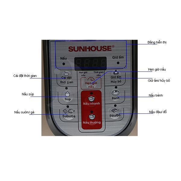 Nồi áp suất đa năng SUNHOUSE SHD1768 6 lít, điện tử