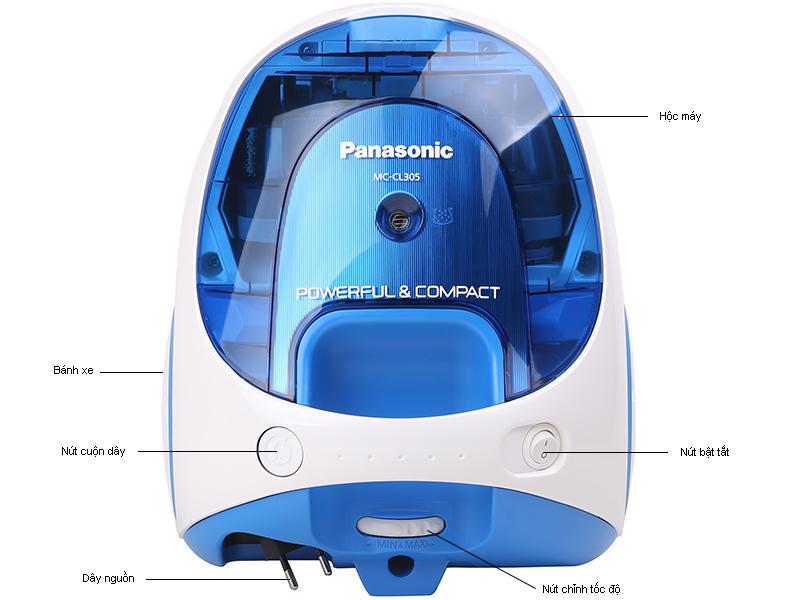 Máy hút bụi PANASONIC MCCL305BN46 dung tích 1,4l , màu xanh dương CS 400W