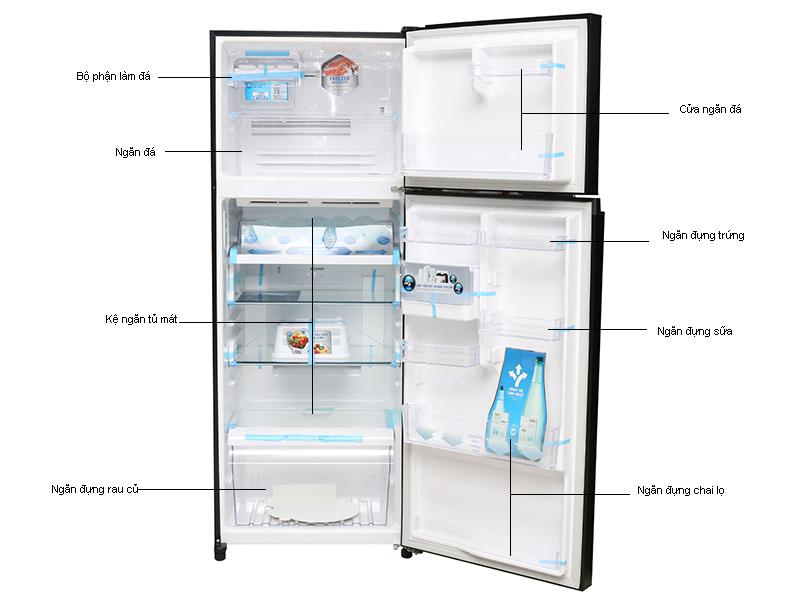 Tủ lạnh Toshiba GRTG41VPDZXK - 359 lít - Inverter,Gương đen,