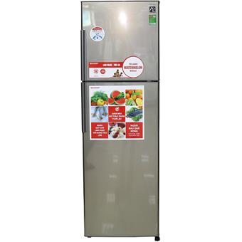 Tủ lạnh Sharp SJS340DSL - 335L màu bạc sẫm