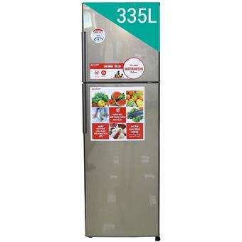 Tủ lạnh Sharp SJS340ESL - 335L màu bạc