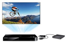 Tận hưởng nội dung từ ổ cứng mềm USB hoặc ổng cứng ngoài HDD