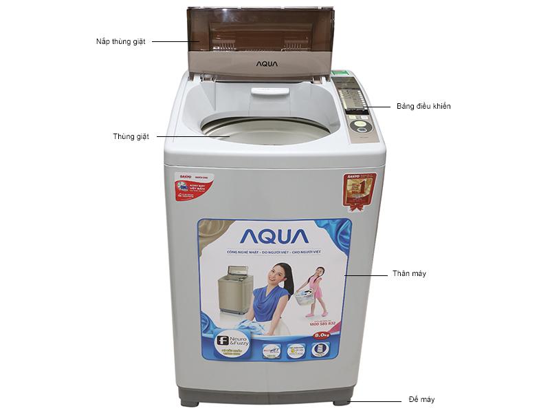 Máy giặt Aqua AQWS80KT - 8 kg