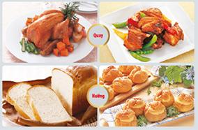 Lò có nhiều chế độ nấu với những món ăn khác nhau
