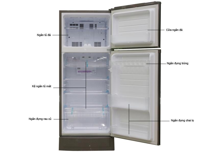 Tủ lạnh Sharp SJ18VF2BS - 180L - Bạc nâu