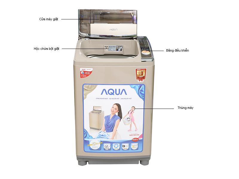 Máy giặt Aqua AQWU125ZTN12,5kg lồng đứng sóng siêu âm