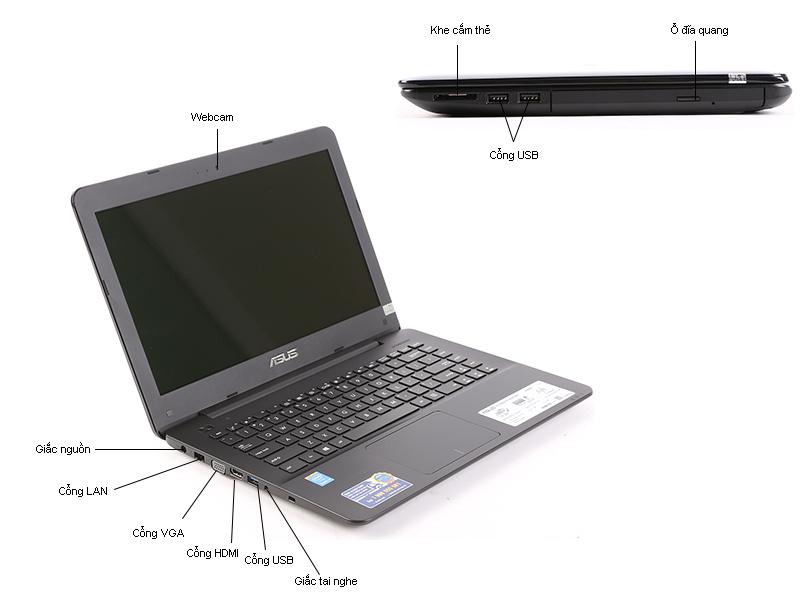 Máy tính xách tay Asus K555LA-XX281D - Dark Blue