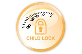 Chức năng khóa LOCK khi có trẻ em gần bếp