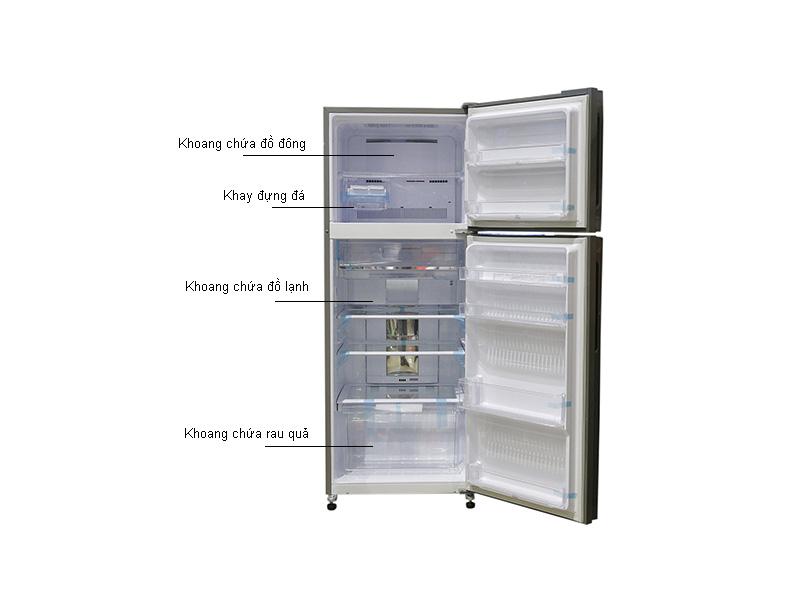 Tủ lạnh Sharp SJXP430PGSL - Inverter 431lít Màu gương bạc