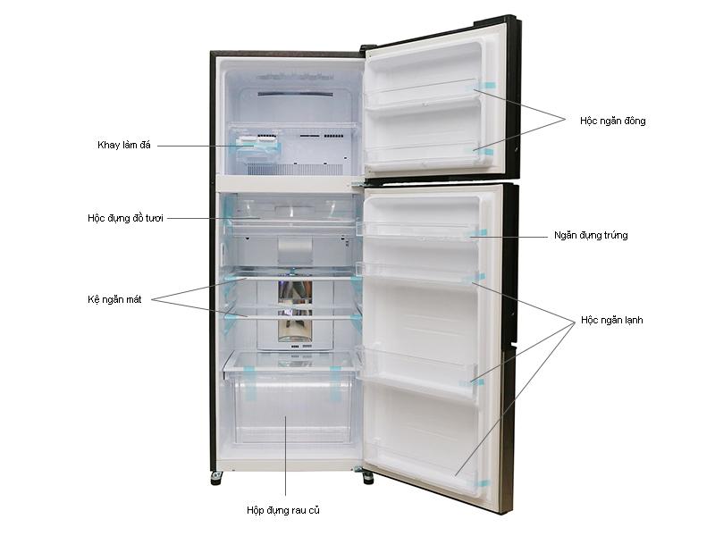 Tủ lạnh Sharp SJX400EMSL- Inverter 400lít Màu bạc