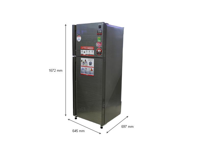 Tủ lạnh Sharp SJXP400PGSL- Inverter 400lít Màu gương bạc