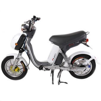 Xe đạp điện NIJIA 2014 Phanh Đĩa lốp không săm đồng hồ điện - Trắng
