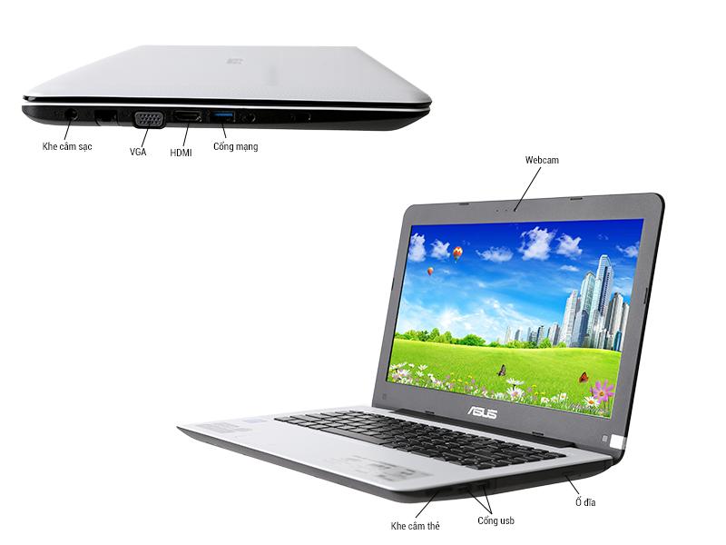 MTXT Asus X454LA-VX143D Core i3-4030U2GB500GB14.1DVDRW2yrsdos Màu đen
