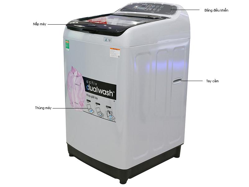 Máy giặt Samsung WA10J5710SGSV - 10 kg Màu Xám