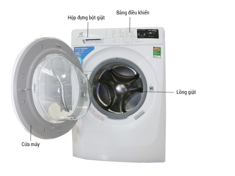 Máy giặt  ELECTROLUX EWF85743 - 7.5 kg Lồng  ngang