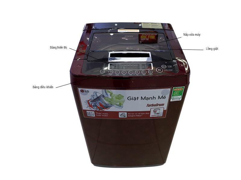 Máy giặt LG WFS9019DR - 9kg Màu đỏ vang