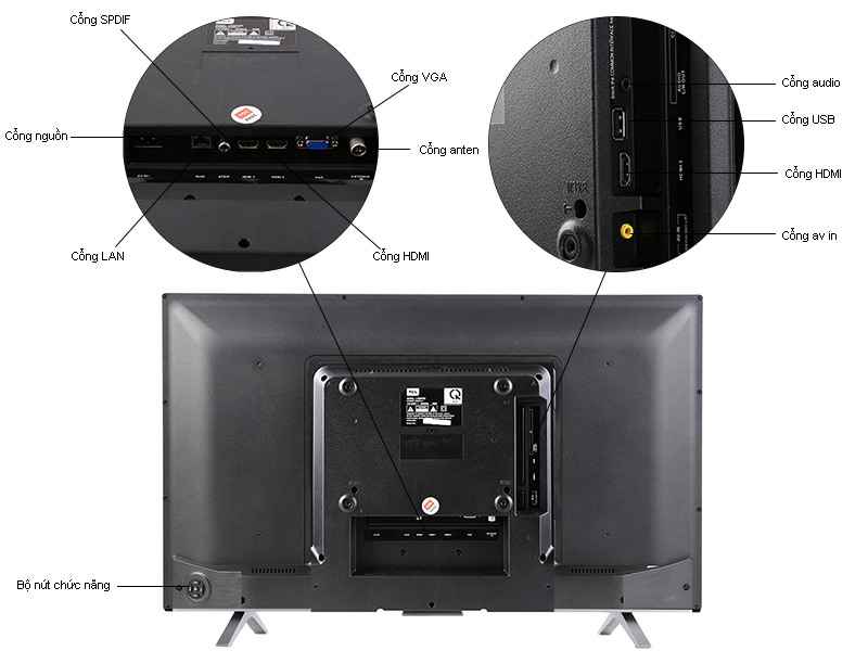 TIVI LED TCL L40D2780-40,Full HD,Internet