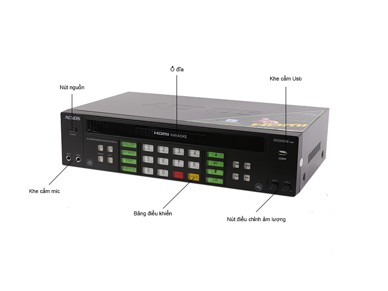 Đầu Star MIDI Plus Karaoke ACNOS - SK5300HDMI