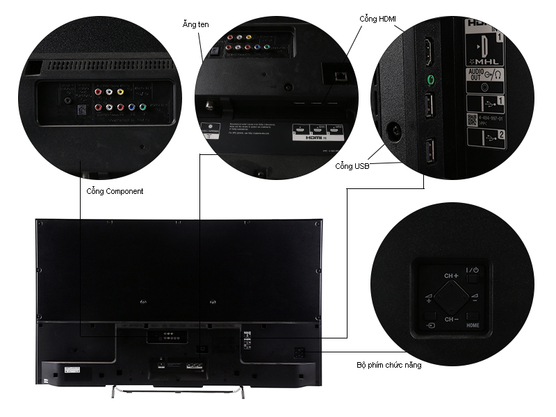 TIVI LED 3D Sony KDL50W800C-50,Full HD,800 Hz,Android