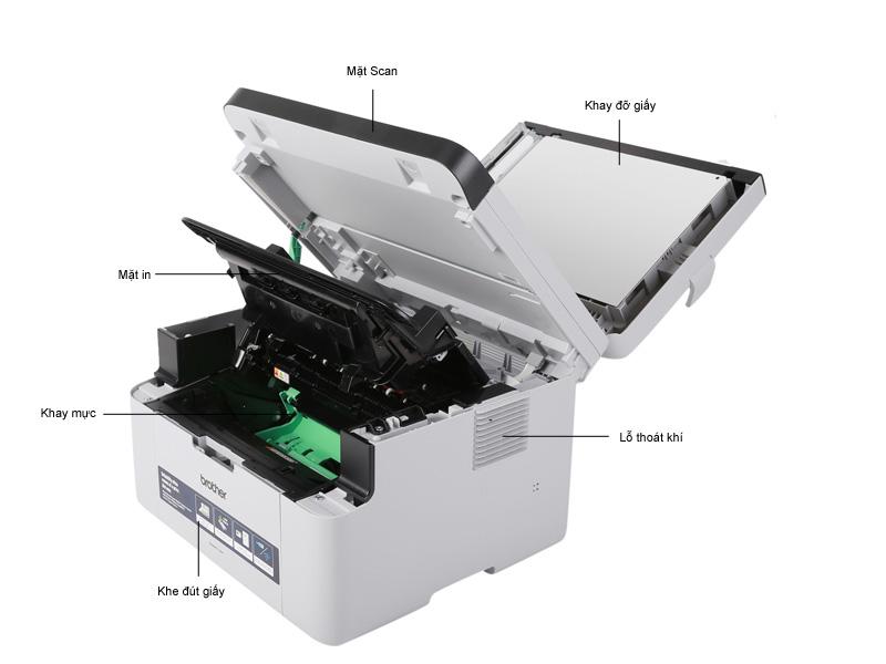 Máy in laser đen trắng đa chức năng Brother MFC-1901 có Fax