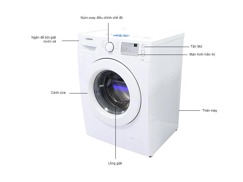 Máy giặt  Samsung  WW75J4213IWSV -  7.5kg